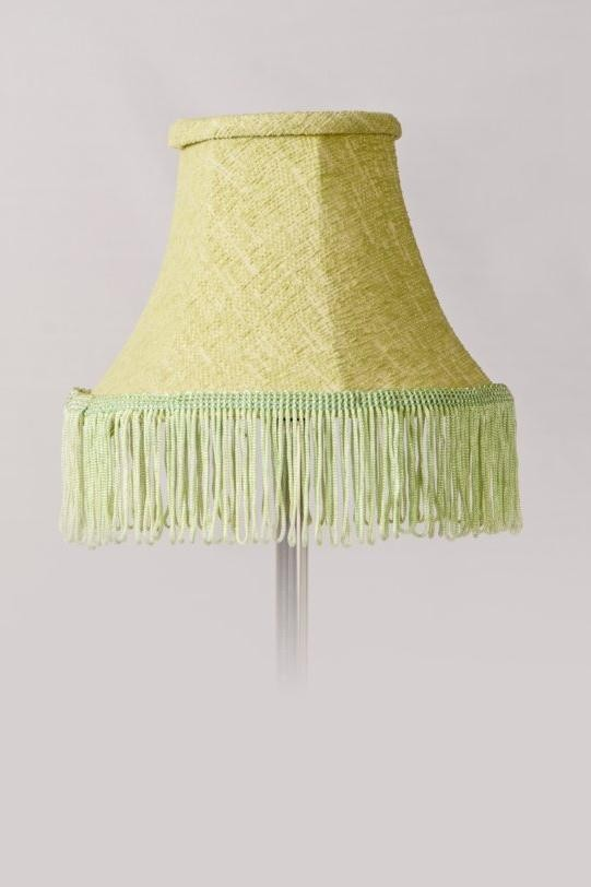 Green Chenille Shade With Tassle Fringing