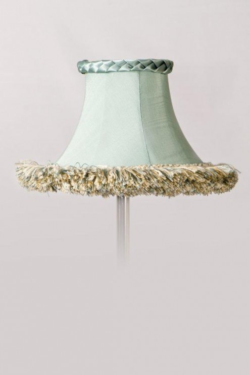 Lamp Shades Pale Turquoise Silk Lamp Shade